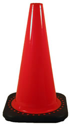 Traffic Cones in Stock for Fast Shipping: 3-Pack of 18-Inch Traffic Safety Cones