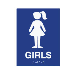 ada compliant girls restroom wall signs for schools