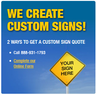 Custom Sign Quote