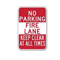 No Parking Fire Lane Keep Clear At All Times Signs - 12x18 - Reflective Rust-Free Heavy-Gauge Aluminum Signs
