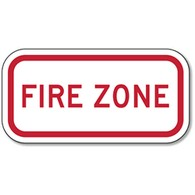 Supplemental Fire Zone Sign - 12x6