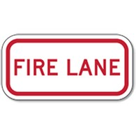 Supplemental Fire Lane Sign - 12x6