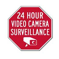 24 Hour Video Camera Surveillance Signs- Reflective Rust-Free Heavy Gauge Aluminum Security Signs