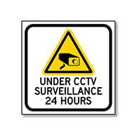 Under CCTV Surveillance 24 Hours Window Decal and Labels