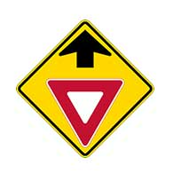 W3-2 Yield Ahead Symbol Warning Signs -  - 30x30 - Regulation High-Intensity Prismatic Reflective Rust-Free Heavy Gauge Aluminum Road Signs.