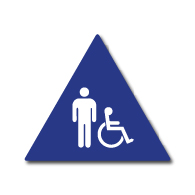 ADA Restroom Door Sign Male and Wheelchair Symbols - 12x12