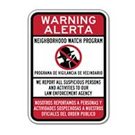 Bilingual Neighborhood Watch Signs - 12x18