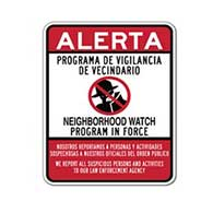 Bilingual Neighborhood Watch Signs - 18x24