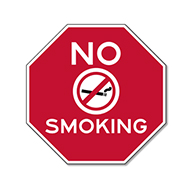 No Smoking STOP Sign - 12x12 - Reflective rust-free aluminum No Smoking Signs suitable for indoor display and rugged enough to use outdoors for many years