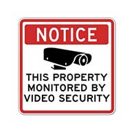 Notice This Property Monitored By Video Camera Security Decals - Package of 3