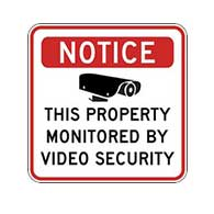 Property Monitored By Video Security Sign - 24X24