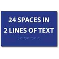 ADA Compliant Custom Room Name Signs - 2 Lines of Text - Braille