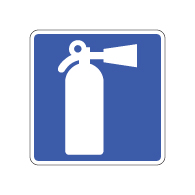 Fire Extinguisher Symbol Sign - 8x8- Non-Reflective Rust-Free .050 Gauge Aluminum Symbol Sign for indicating Fire Extinguisher locations