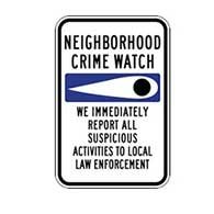 Neighborhood Crime Watch Eye Sign - 12x18