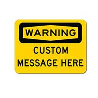 Customized OSHA Warning Sign - 24x18- Rust-free heavy-gauge and reflective OSHA compliant safety signs