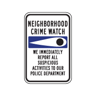 Window Decal - Crime Watch Eye  - 4x6