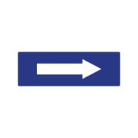 ADA Compliant Directional Arrow Signs with Tactile Arrow - 6X2