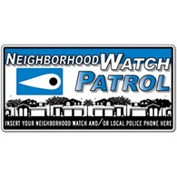 Custom - Crime Watch Eye Magnetic Car Door Sign - 24x12