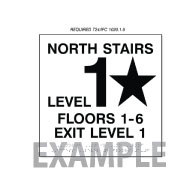 Title 24 and International Fire Code Stairwell Floor Number Signs - 12x12