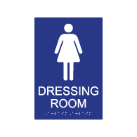 ADA Womens Dressing Room Sign - 6x9