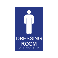 ADA Mens Dressing Room Sign - 6x9