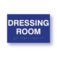 ADA Compliant Dressing Room Sign with Tactile Text and Grade 2 Braille - 6x4