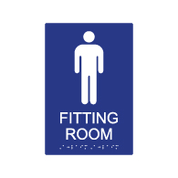 ADA Mens Fitting Room Sign - 6x9