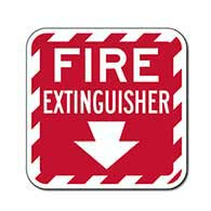 Fire Extinguisher Location Sign - 12x12 - Reflective rust-free heavy-gauge aluminum Fire Extinguisher Indicator Signs