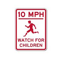 Choose the Speed Limit and Colors you Want for this Watch For Children Sign - 18x24- Reflective rust-free heavy gauge aluminum Slow Down and Children At Play signs