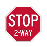 Intersection STOP Sign - 30x30 - Choice of 2, 3, 4 or All Way