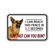 Buy No Trespassing Guard Dog Door Signs - 18x12 - Full-Color Reflective Rust-Free Aluminum Guard Dog Signs