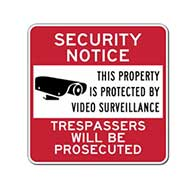 Property Protected By Video Surveillance Sign - 24x24