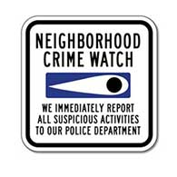 Neighborhood Crime Watch Eye Sign - 12x12 size for yard and home display - Reflective heavy-gauge rust-free aluminum Crime Watch Signs
