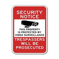 Label - PROPERTY PROTECTED BY VIDEO SURVEILLANCE - 6x8
