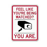Feel Like You're Being Watched? You Are. - Video Camera Security Sign - 18x24 - A Reflective Rust-Free Heavy Gauge Aluminum Video Security Sign