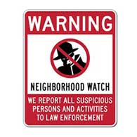 Neighborhood Watch Warning Sign - 24x30 - Reflective rust-free heavy-gauge aluminum Neighborhood Watch Signs