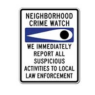 Neighborhood Crime Watch Eye Sign - 24x30