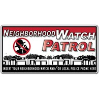 Custom - Crime Watch Rico the Robber Magnetic Car Door Sign - 24x12