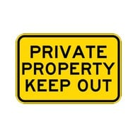 Private Property Keep Out Sign - 18x12