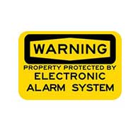Warning Property Protected by Electronic Alarm System Signs - 18x12 - Reflective rust-free heavy-gauge aluminum Electronic Alarm Security signs