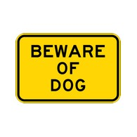 Buy Beware Of Dog Warning Signs - 18x12