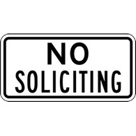 Buy Private Property No Soliciting Door Signs - 12x6