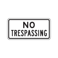 Buy No Trespassing Door Signs - 12x6 - Reflective Rust-Free Durable Aluminum No Trespassing Signs