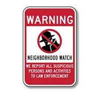 Use this Package of Three Neighborhood Watch Warning Window Decals or Labels - 4x6 - in tandem with our Neighborhood Watch Warning Signs.
