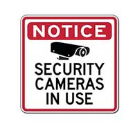 Notice Security Cameras In Use Sign - 24x24 | STOPSignsAndMore.com