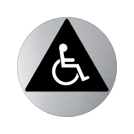 ADA Unisex Restroom Door Sign with Wheelchair Symbols - 12x12