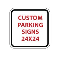Custom No Trespassing Signs - 24x24 - Reflective Heavy-Gauge Aluminum Parking Sign
