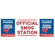 California STAR Certified SMOG Station Banner - 72x24