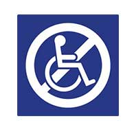 ADA Non-Accessible Symbol Sign - 6X6