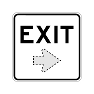 Exit Sign with Choice of Arrow Direction - 18x18 Size Good for Outdoor and Parking Lot Uses - Engineer Grad Reflective Heavy Gauge Aluminum Exit Sign from STOPSignaAndMore.com